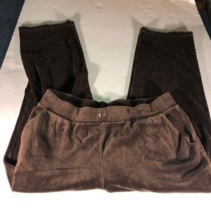 WHITE STAG Capris Sweat Pants Size 12 Womens Brown